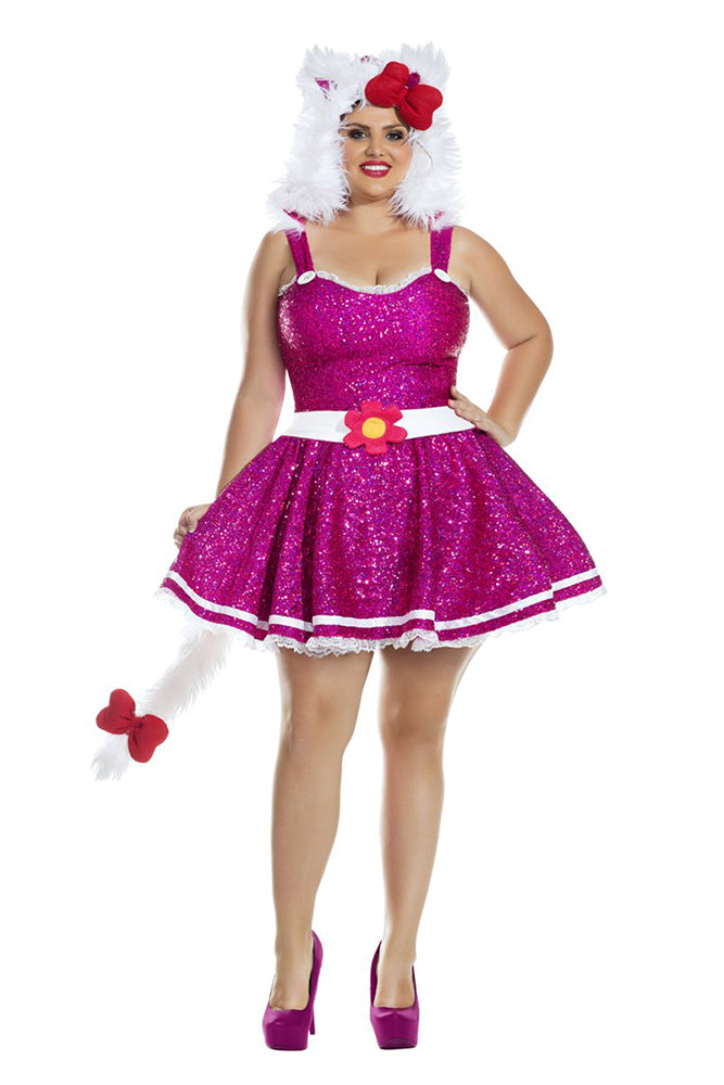 Party King Plus Size Hi Kitten Womens Costume Womens Adult Sized Costumes - Nastassy