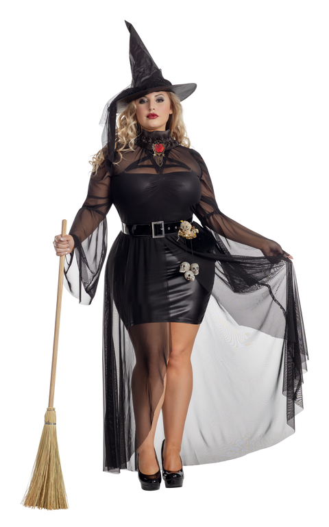 Starline Plus Gothic Witch Costume  - Nastassy
