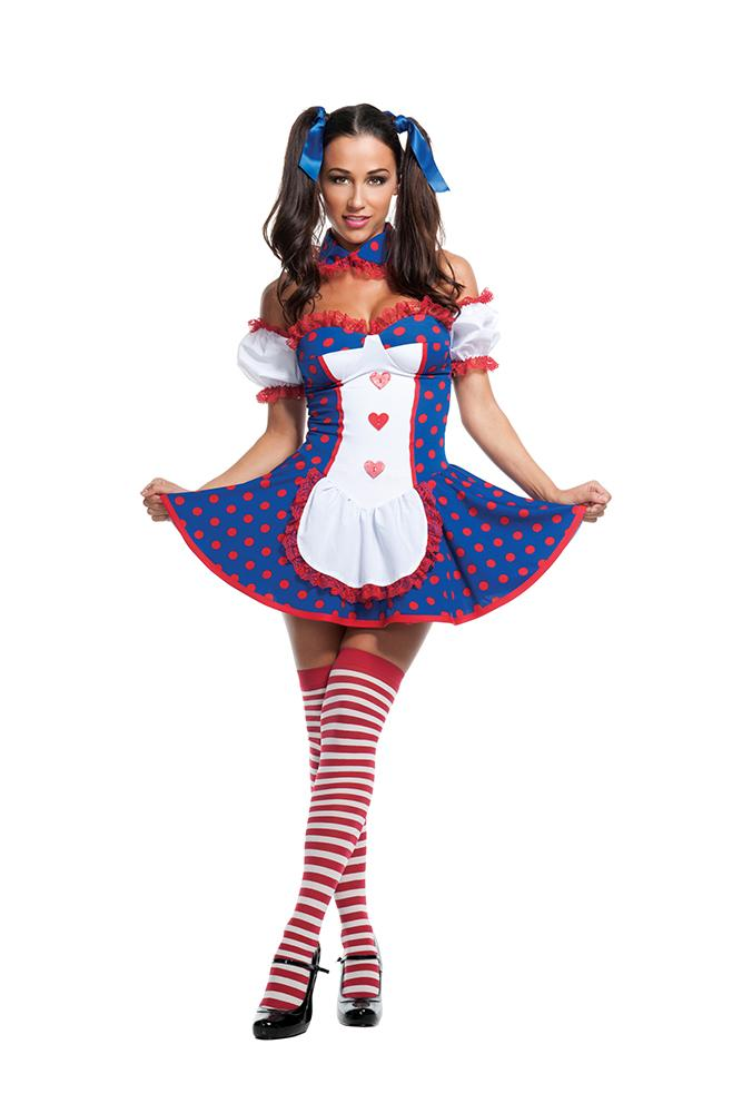 Starline Women's Risque Rag Doll Costume Womens Adult Sized Costumes - Nastassy