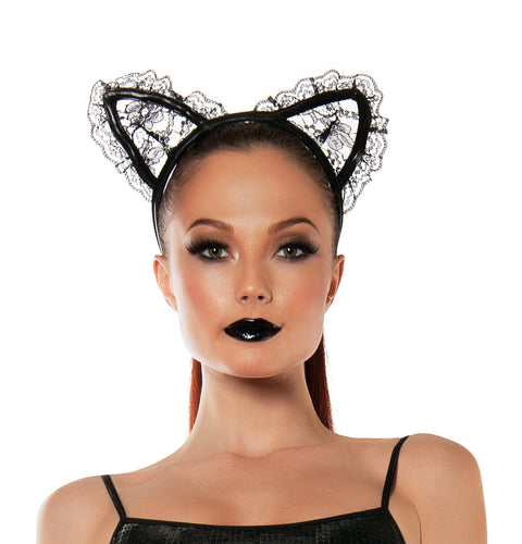 Starline Women's Lace Kitty Cat Ears Headband Accessory Womens Costume Accessories - Nastassy