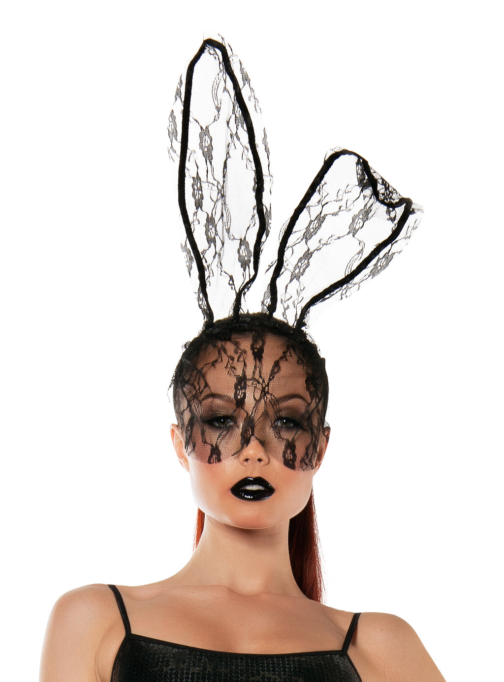 Starline Women's Lace Bunny Mask Headband Accessory Womens Costume Accessories - Nastassy