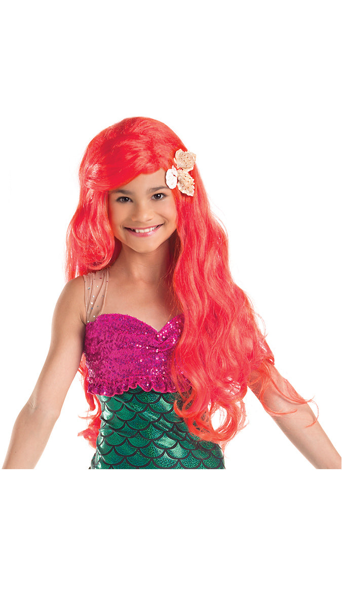 Party King Girls Mermaid Costume Wig with Shells Womens Costume Wigs - Nastassy