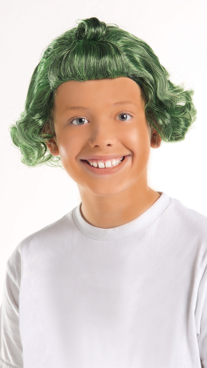 Party King Kids Green Candy Man Costume Wig Womens Costume Wigs - Nastassy