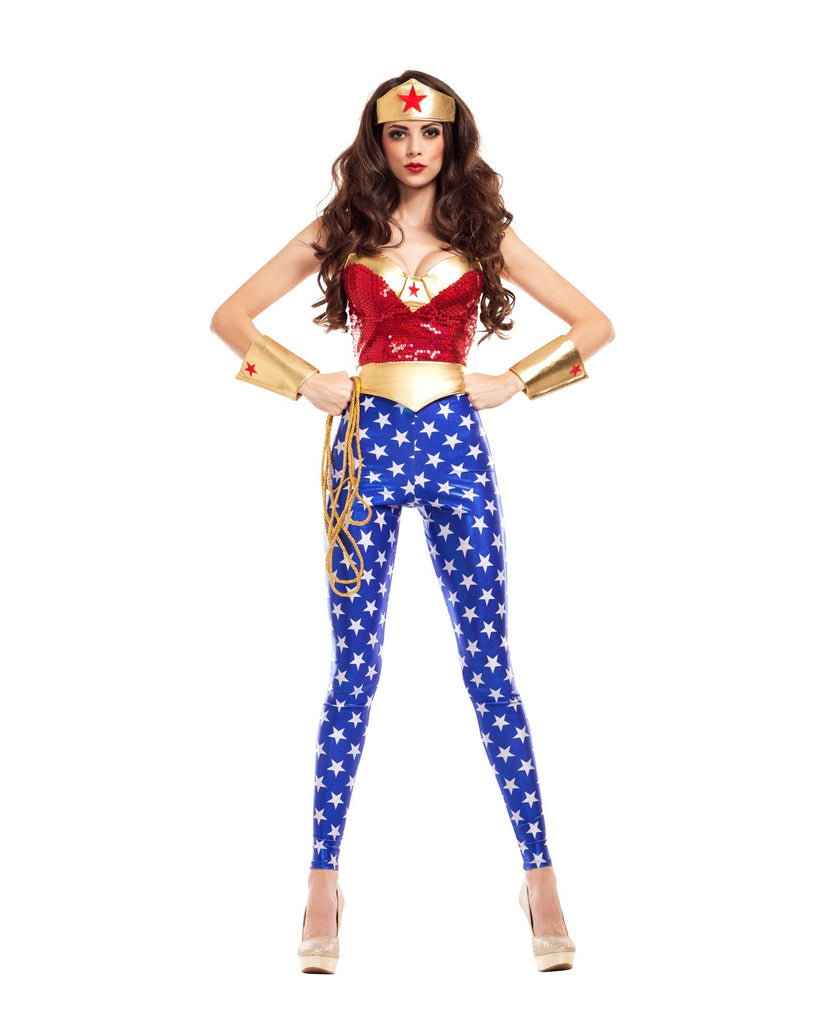 Party King Women's Wonderlady Costume Womens Adult Sized Costumes - Nastassy