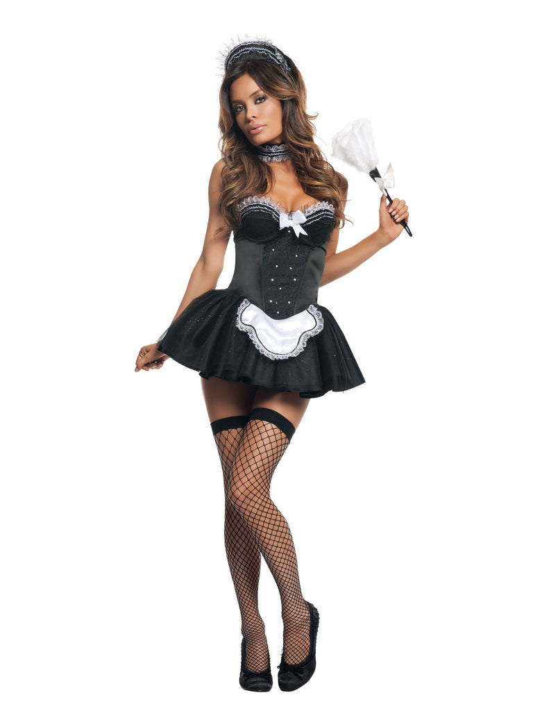 Starline Women's Seductive Maid Costume Womens Adult Sized Costumes - Nastassy