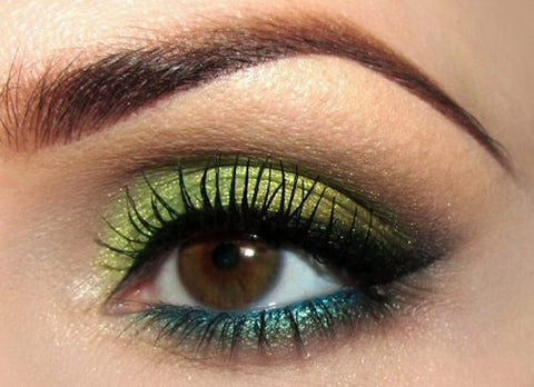 Green is another eyeshadow color that looks amazing on brown eyes. If you have hazel eyes, it makes them appear more green. My absolute favorite green ...