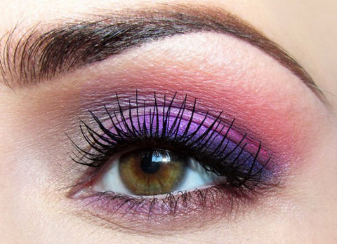 Purple is the most universally flattering eyeshadow color to wear (other than neutrals) because it goes well with any hair, eye, or skin color.