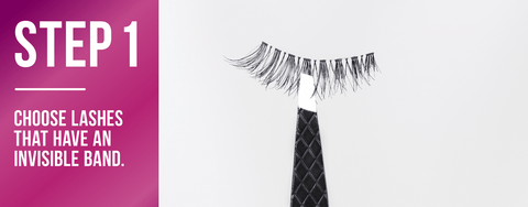 e8e29f08e75 The only trouble is they can be tricky to apply. Don't let that scare you  away! Give false lashes a go and follow these five easy steps to  natural-looking ...