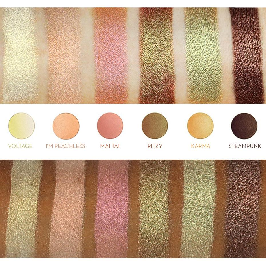 makeup geek duochrome eyeshadow pan i'm peachless swatches