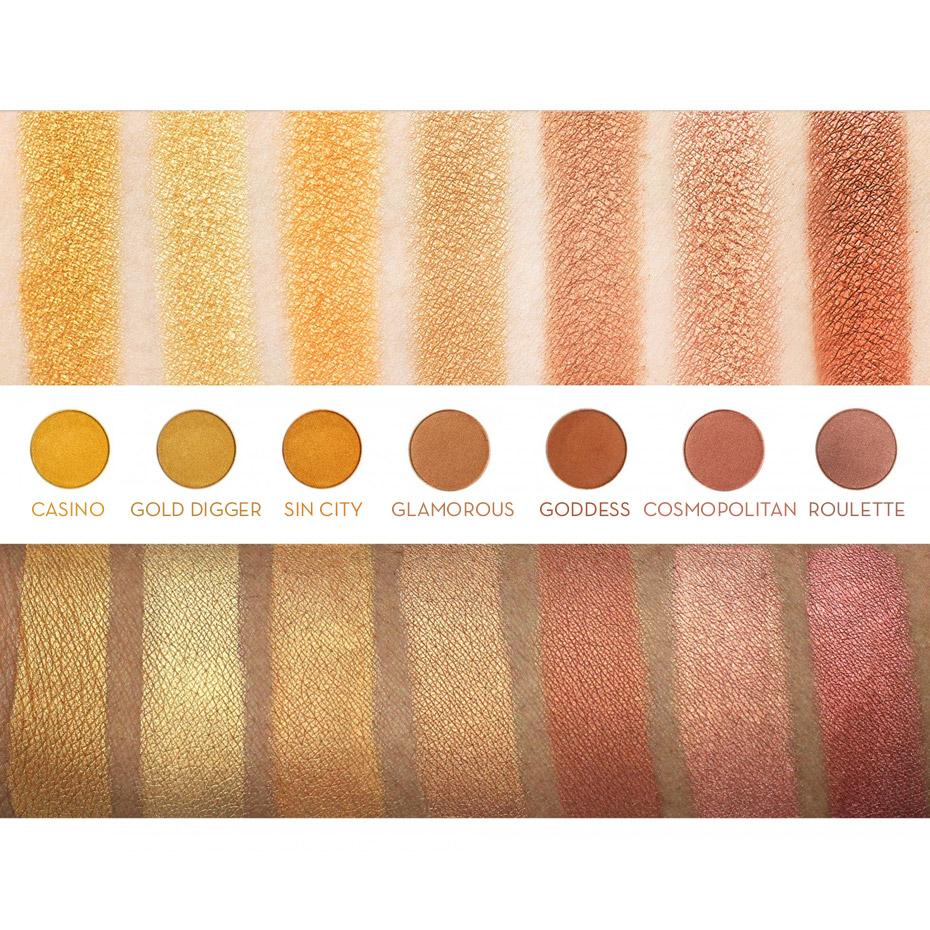 makeup geek eyeshadow pan gold digger swatches · Signature Eyeshadow