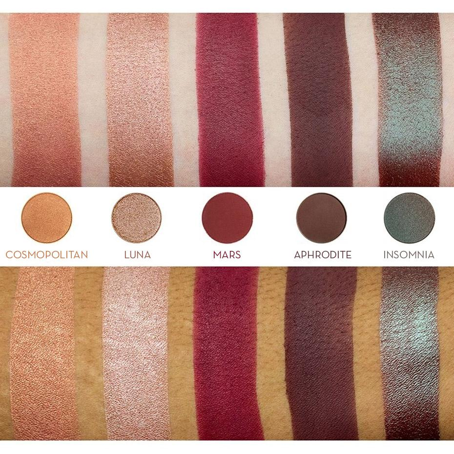 makeup geek foiled eyeshadow pan luna swatches · Foiled Eyeshadow