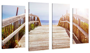 Oversize Canvas Wall Art Set of 4 by Elena Elisseeva Dune Path 1,Sets of 4,Sea and Shore,blue art,Elena Elisseeva