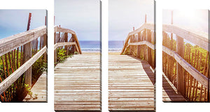 Large Canvas Wall Art Set of 4 by Elena Elisseeva Dune Path 1,Sets of 4,Sea and Shore,blue art,Elena Elisseeva