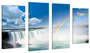 Oversize Canvas Wall Art Set of 4 by Elena Elisseeva Niagara Falls,Sets of 4,Sea and Shore,blue art,Elena Elisseeva
