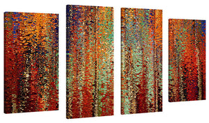 Set of 4 by Mark Lawrence My Kingdom Is Not Of This World,Sets of 4,Abstract,red art,Mark Lawrence