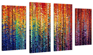 Set of 4 by Mark Lawrence Who Works In You,Sets of 4,Abstract,multi-color art,Mark Lawrence