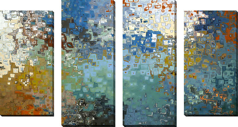 Large Canvas Wall Art Set of 4 by Mark Lawrence My Protector,Sets of 4,Abstract,blue art,Mark Lawrence