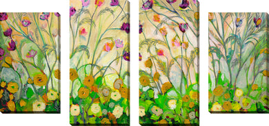 Large Canvas Wall Art Set of 4 by Jennifer Lommers Mardi Gras,Sets of 4,Floral,green art,Jennifer Lommers