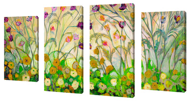 Oversize Canvas Wall Art Set of 4 by Jennifer Lommers Mardi Gras,Sets of 4,Floral,green art,Jennifer Lommers