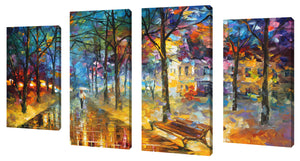 Oversize Canvas Wall Art Set of 4 by Leonid Afremov Colors Of My Past,Sets of 4,Landscapes,multi-color art,Leonid Afremov