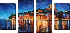 Large Canvas Wall Art Set of 4 by Leonid Afremov Italy, Verona,Sets of 4,Cityscapes,multi-color art,Leonid Afremov