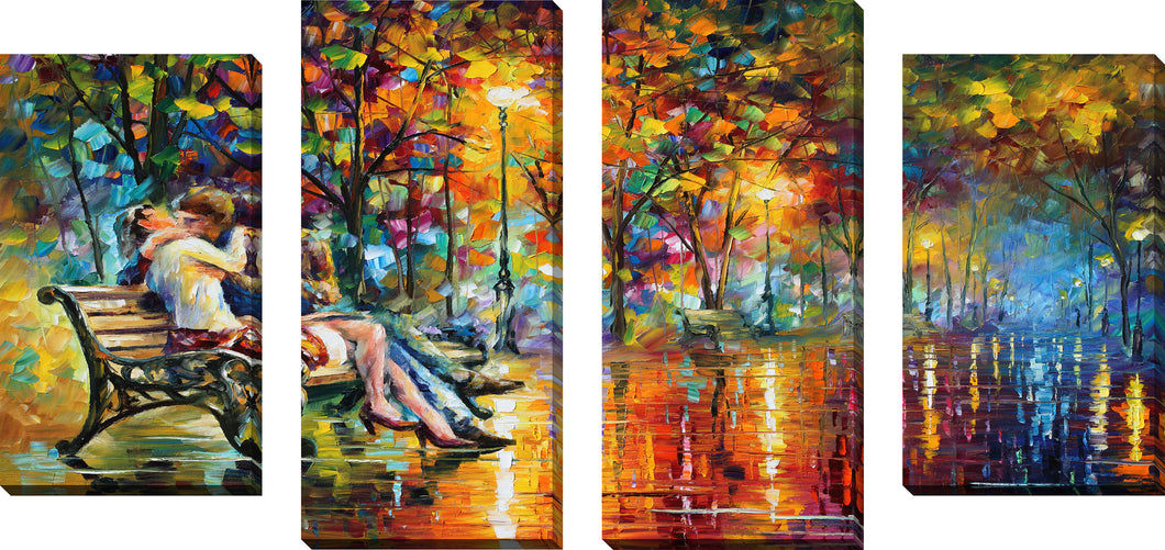 Large Canvas Wall Art Set of 4 by Leonid Afremov Passion Evening,Sets of 4,Landscapes,multi-color art,Leonid Afremov