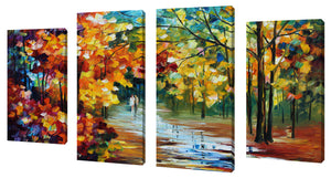Oversize Canvas Wall Art Set of 4 by Leonid Afremov The Spirit Stroll,Sets of 4,Landscapes,multi-color art,Leonid Afremov