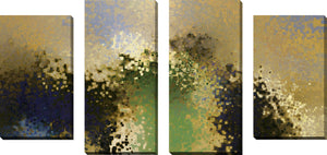 Large Canvas Wall Art Set of 4 by Mark Lawrence Purified,Sets of 4,Abstract,yellow art,Mark Lawrence