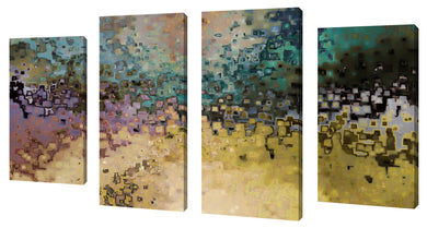 Oversize Canvas Wall Art Set of 4 by Mark Lawrence What We Will Be,Sets of 4,Abstract,multi-color art,Mark Lawrence