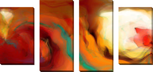 Large Canvas Wall Art Set of 4 by Mark Lawrence The Well of Grace,Sets of 4,Abstract,red art,Mark Lawrence