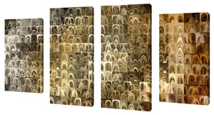 Oversize Canvas Wall Art Set of 4 by Mark Lawrence Please Pray for Me,Sets of 4,Abstract,brown art,Mark Lawrence