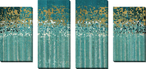 Large Canvas Wall Art Set of 4 by Mark Lawrence He Chose Us,Sets of 4,Abstract,blue art,Mark Lawrence