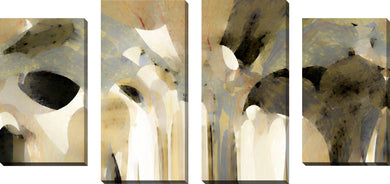 Large Canvas Wall Art Set of 4 by Mark Lawrence Angel Speaking To Jacob,Sets of 4,Abstract,brown art,Mark Lawrence