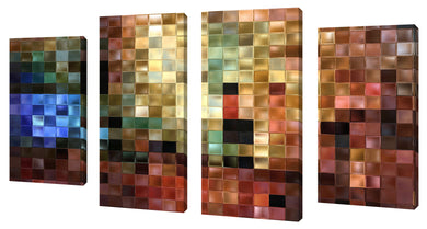 Oversize Canvas Wall Art Set of 4 by Mark Lawrence I Will Be With You,Sets of 4,Abstract,multi-color art,Mark Lawrence