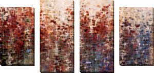 Large Canvas Wall Art Set of 4 by Mark Lawrence The Past, The Now, The Coming Years,Sets of 4,Abstract,red art,Mark Lawrence
