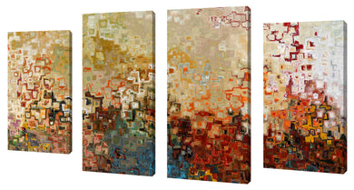 Oversize Canvas Wall Art Set of 4 by Mark Lawrence Wherever You Go,Sets of 4,Abstract,multi-color art,Mark Lawrence