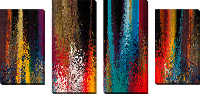 Large Canvas Wall Art Set of 4 by Mark Lawrence Continuous Conversion,Sets of 4,Abstract,multi-color art,Mark Lawrence