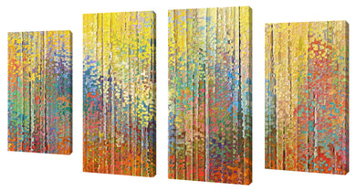Oversize Canvas Wall Art Set of 4 by Mark Lawrence See the Goodness of the Lord,Sets of 4,Abstract,multi-color art,Mark Lawrence