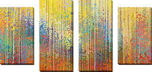 Large Canvas Wall Art Set of 4 by Mark Lawrence See the Goodness of the Lord,Sets of 4,Abstract,multi-color art,Mark Lawrence