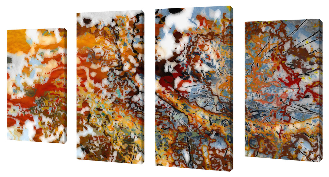 Oversize Canvas Wall Art Set of 4 by Mark Lawrence The Evidence of Our Thoughts,Sets of 4,Abstract,multi-color art,Mark Lawrence