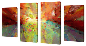 Oversize Canvas Wall Art Set of 4 by Mark Lawrence Wind of Change,Sets of 4,Abstract,multi-color art,Mark Lawrence