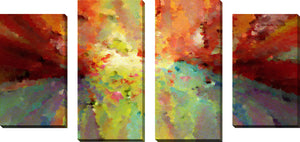 Large Canvas Wall Art Set of 4 by Mark Lawrence Wind of Change,Sets of 4,Abstract,multi-color art,Mark Lawrence