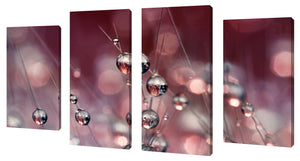 Oversize Canvas Wall Art Set of 4 by Sharon Johnstone Cactus Wine Drops,Sets of 4,Floral,pink art,Sharon Johnstone