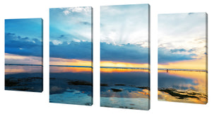 Oversize Canvas Wall Art Set of 4 by Ocean Reflections,Sets of 4,Sea and Shore,blue art
