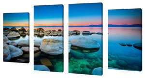 Oversize Canvas Wall Art Set of 4 by Blue Waters,Sets of 4,Sea and Shore,blue art