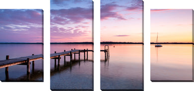 Large Canvas Wall Art Set of 4 by Out by the Dock,Sets of 4,Sea and Shore,purple art