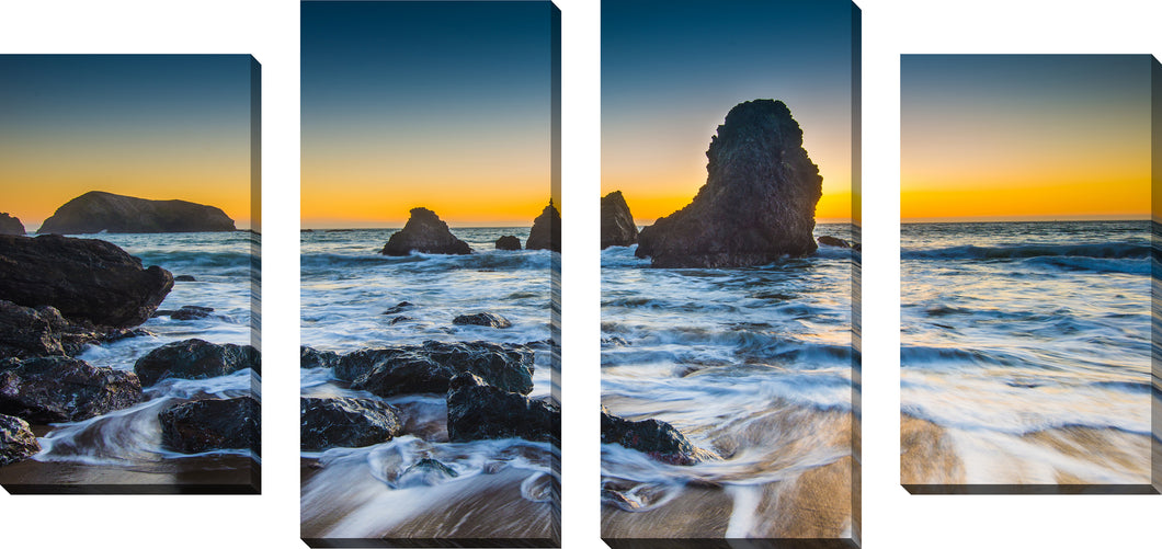 Large Canvas Wall Art Set of 4 by A Night in Paradise,Sets of 4,Sea and Shore,blue art