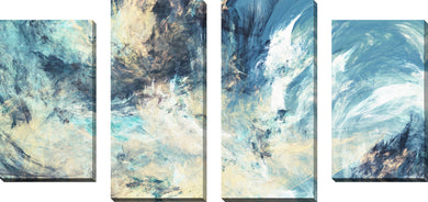 Large Canvas Wall Art Set of 4 by Feeling Blue,Sets of 4,Abstract,blue art
