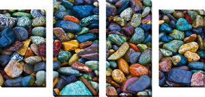Large Canvas Wall Art Set of 4 by Water Stones 2,Sets of 4,Sea and Shore,blue art