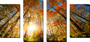 Large Canvas Wall Art Set of 4 by Autumn Aura,Sets of 4,Landscapes,orange art